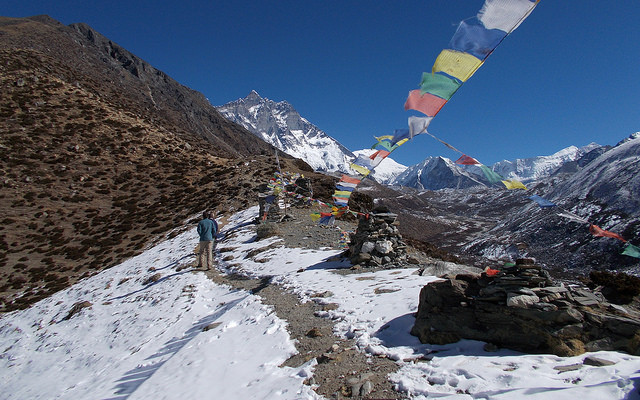 People on the EBC (Everest Base Camp) Trail