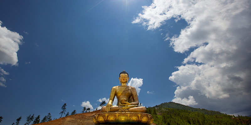 The giant buddha looking over Thimphu, Bhutan
