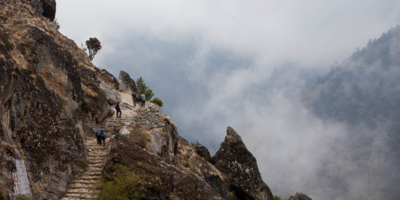 The trails north of Tengboche monastery.