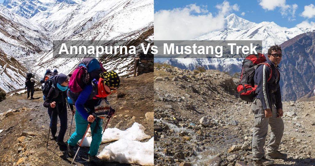 mustang vs annapurna trek